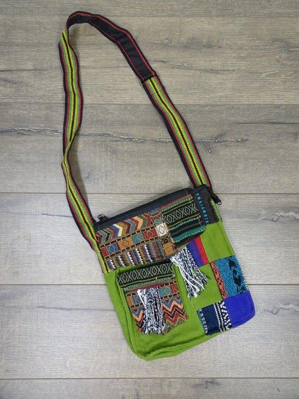 Gringo Patchwork Shoulder Bag 100% Cotton