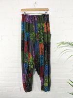 Gringo Fair Trade Afghani Trousers - Dark Multi - 100% Cotton