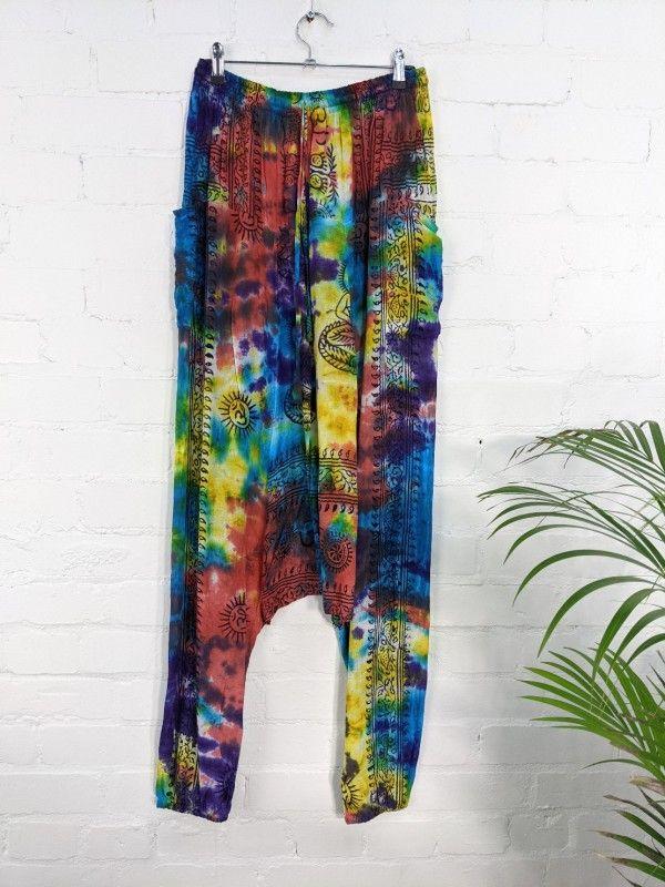Gringo Fair Trade Rainbow Afghani Trousers 100% Cotton