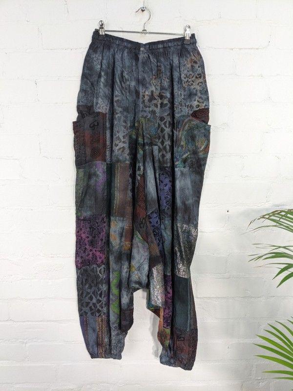 Gringo Fair Trade Patchwork Tie Dye Afghani Trousers - 100% Cotton