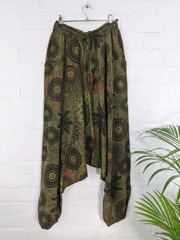 Gringo Fair Trade Screen Printed Afghani Trousers - 100% Cotton