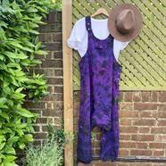 Fair Trade Festival Tie Dye Dungarees One Size