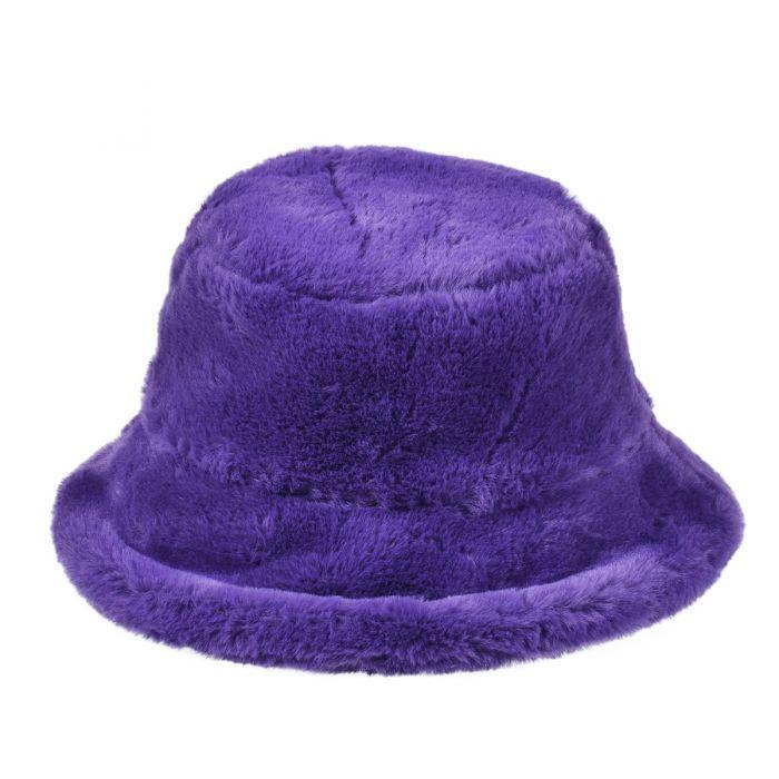 Purple Fluffy Festival Bucket Hat