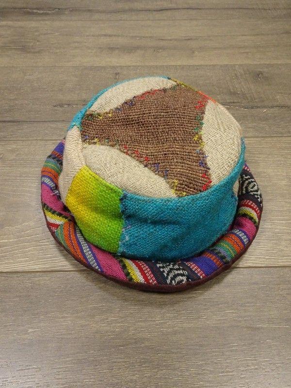 Gringo Fair Trade Hemp & Cotton Patchwork Roll Hat