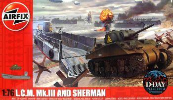 Airfix A03301   LCM MkIII & Sherman M4A2 Tank