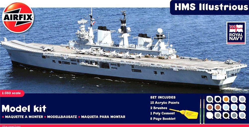 Airfix A50059    HMS Illustrious Gift Set 1:350