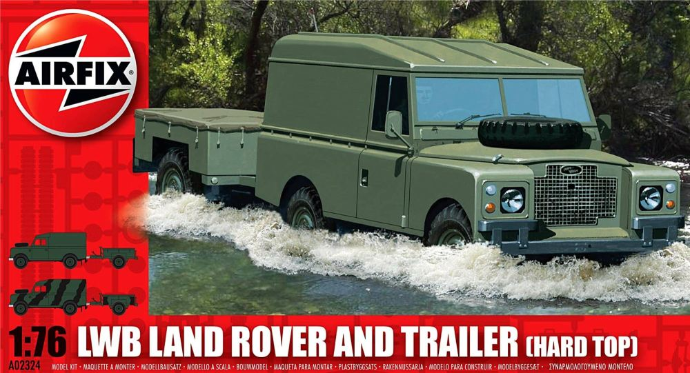 Airfix A02324   LWB Land Rover and Trailer (Hard Top) 1:76
