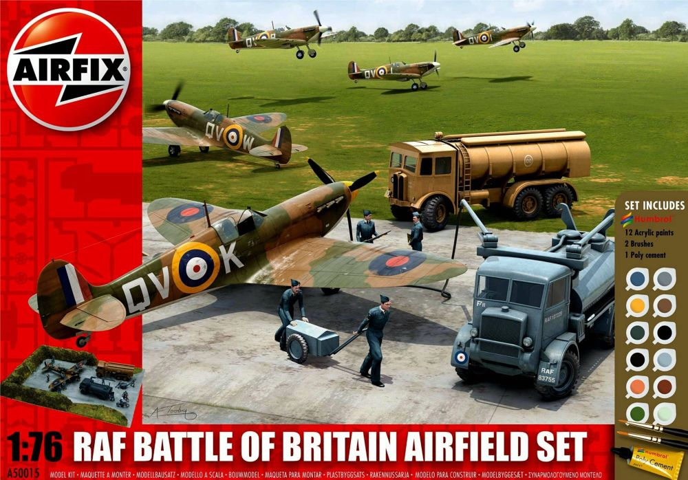 Airfix 50015   RAF Battle of Britain Airfield Gift Set 1:76