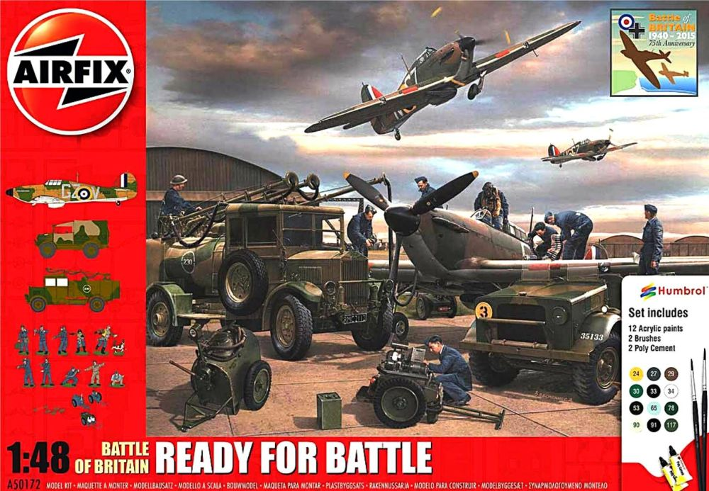 Airfix A50172    Battle of Britain - Ready for Battle Gift Set 1:48