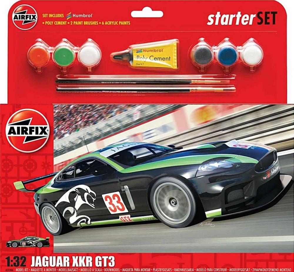 Airfix A55306  Jaguar XKR GT3 Starter Set 1:32