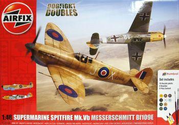 Airfix A50160  Supermarine Spitfire MkVb Messerschmitt Bf109E Dogfight Doubles Gift Set 1:48