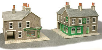 Metcalfe PN117  Corner shop & Pub (Stone)