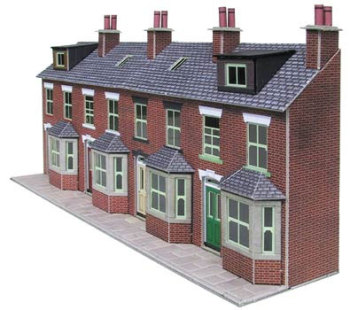 Metcalfe PN174  L/R terrace house fronts (Brick)
