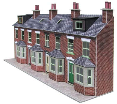PN120  L/R terrace house fronts (Brick)