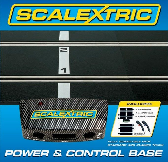 Scalextric C8530  Power & Control Base -  Plus track & Two Hand Controllers