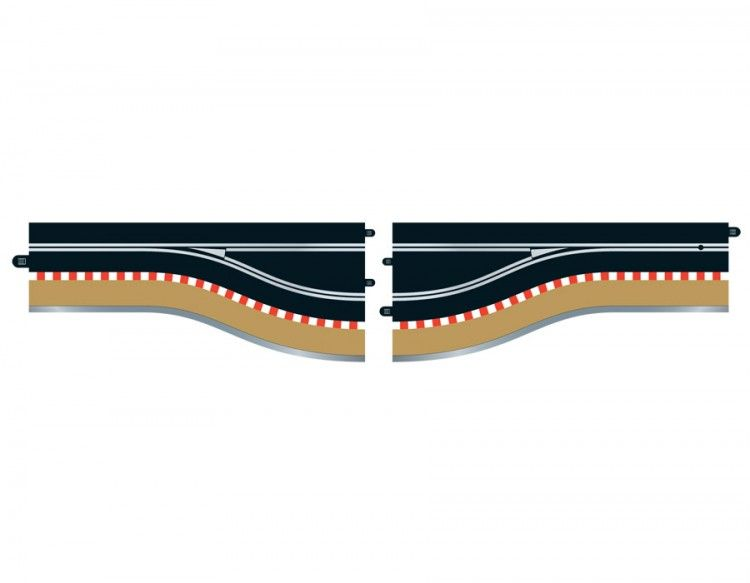 Scalextric C7014  Pit Lane Track (Left Hand) - Includes Sensor