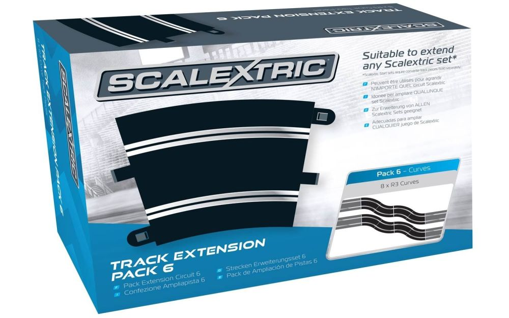 Scalextric C8555  Track Extension Pack x6