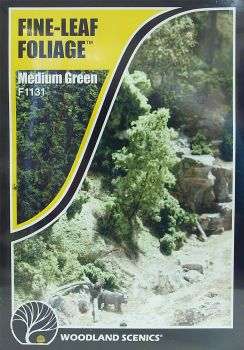 Woodland Scenics F1131  Fine-Leaf Foliage (Medium Green)