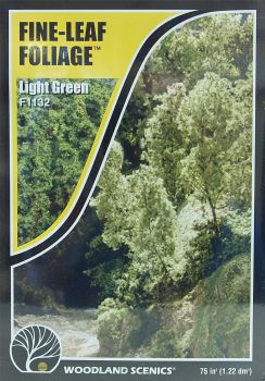 Woodland Scenics F1132  Fine-Leaf Foliage (Light Green)