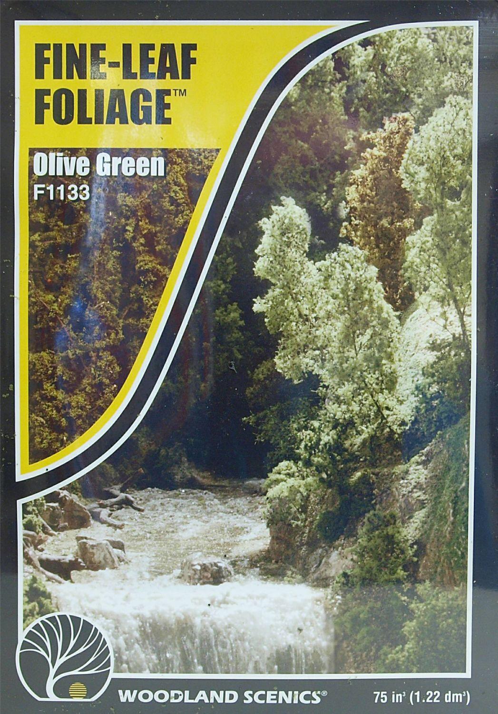 Woodland Scenics F1133  Fine-Leaf Foliage (Olive Green)