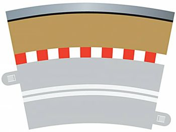 Scalextric C7019   Single Lane Radius 3 Curve Outer Borders 22.5° x 4