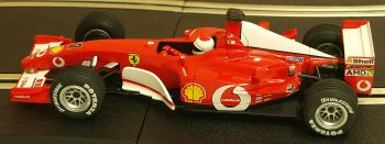 "Carrera 25707  Evolution Ferrari F2002 No2 V10 ""Rubens Barrichello"" 1:32"