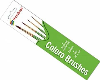 Humbrol AG4050  Coloro Brush Pack - Size 00-1-4-8