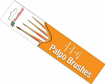 Humbrol AG4250  Palpo Brush Pack - Size 000-0-2-4