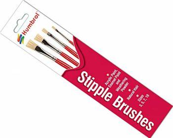 Humbrol AG4303  Stipple Brush Pack 3-5-7-10