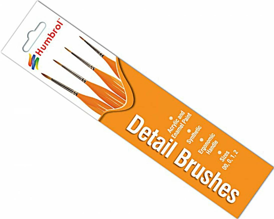 Humbrol AG4301  Detail Brush Pack 00-0-1-2