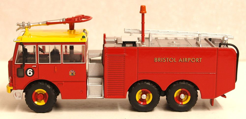 Oxford Diecast 76TN003  Thornycroft Nubian Crash Tender Bristol Airport