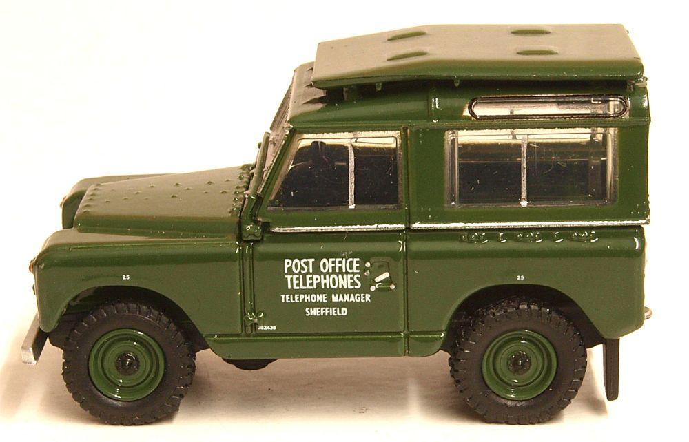 Oxford Diecast 76LR2S003  Land Rover Series II Swb Hard Top Post Office Tel