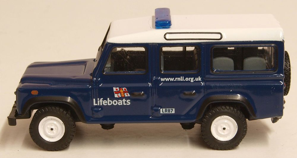 Oxford Diecast 76DEF014  Land Rover Defender Station Wagon RNLI