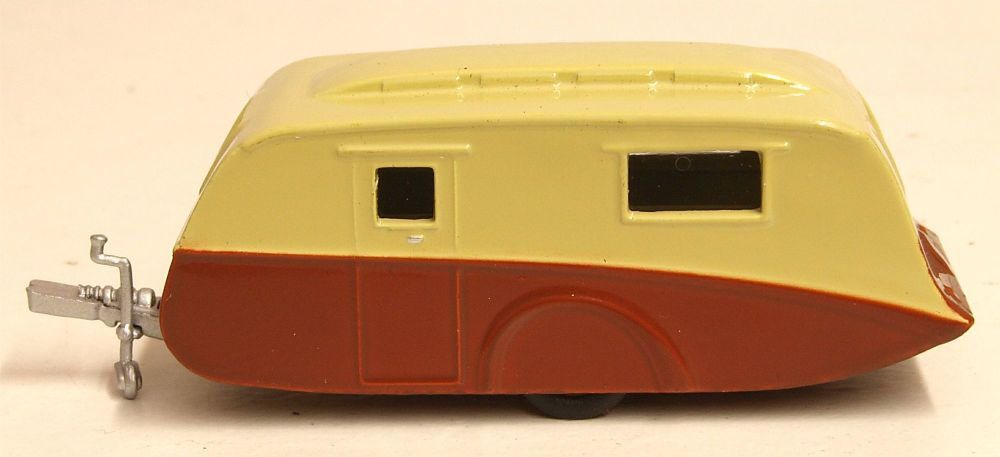 Oxford Diecast 76CV003  Caravan  Cream Brown