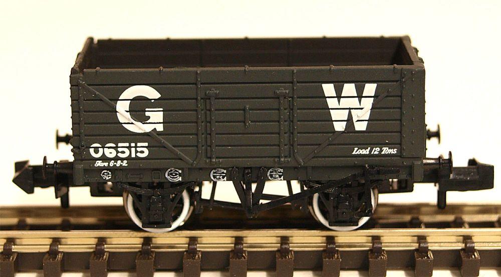 Graham Farish 377-088  7 Plank Wagon End Door GWR Grey