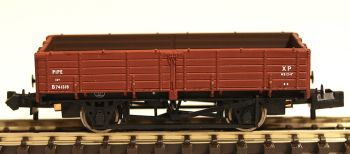 Graham Farish 377776   12 Ton Pipe Wagon BR Bauxite (Early)