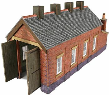 Metcalfe PN931  Engine shed (brick) single road