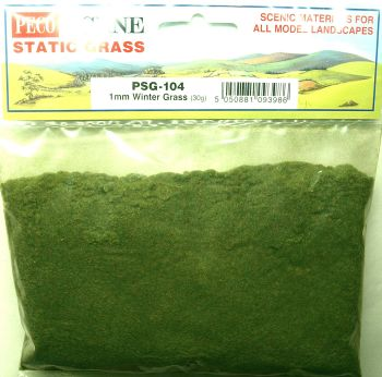Peco Scene PSG104  Static Grass 1mm Winter grass 30gm