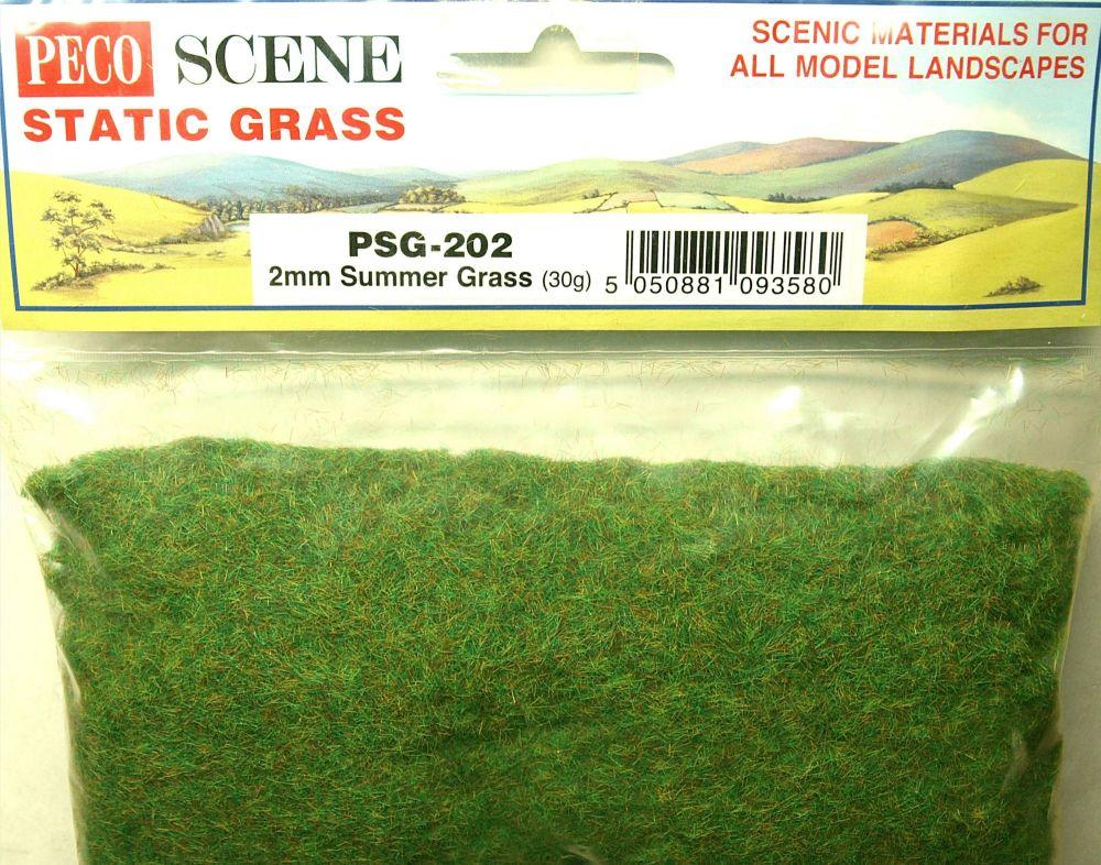 Peco Scene PSG-202  Static Grass 2mm Summer