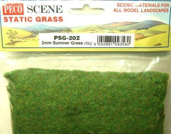 Peco Scene PSG202  Static Grass 2mm Summer 30gm