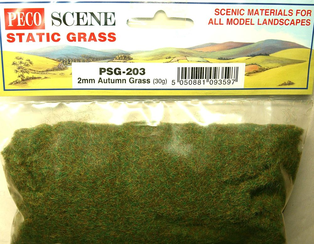 Peco Scene PSG-203  Static Grass 2mm Autumn grass