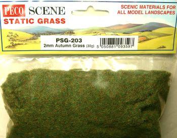 Peco Scene PSG203  Static Grass 2mm Autumn grass 30gm
