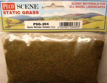 Peco Scene PSG204  Static Grass 2mm Winter grass 30gm