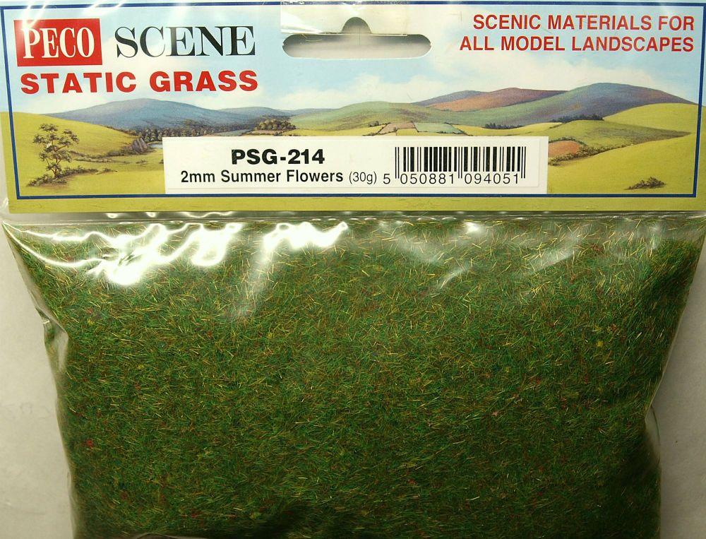 Peco Scene PSG-214  Static Grass 2mm Summer Flowers