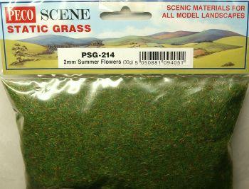 Peco Scene PSG214  Static Grass 2mm Summer Flowers 30gm