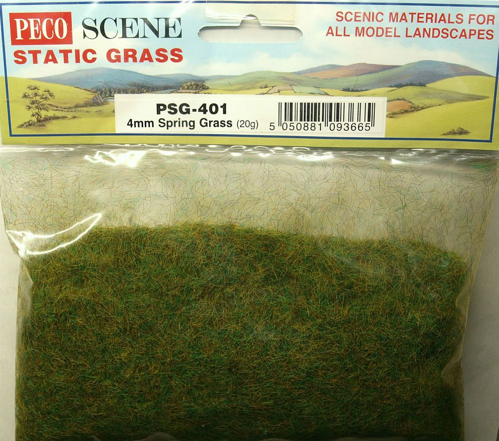 Peco Scene PSG-401  4mm Static Spring grass