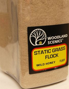 Woodland Scenics FL631  Static Grass  Wild Honey 100gm
