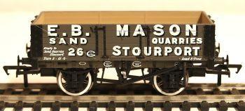 Bachmann 37038  5 Plank wagon 'E.B.Mason' Stourport