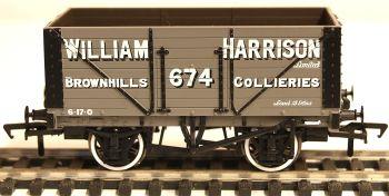 Bachmann 37-163  8 Plank wagon 'William Harrison' Brownhills Collieries