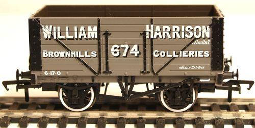 Bachmann 37163  8 Plank wagon 'William Harrison' Brownhills Collieries